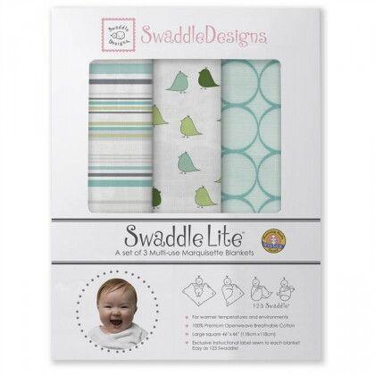 Набор пеленок SwaddleDesigns SwaddleLite Jewel Tone Turquoise