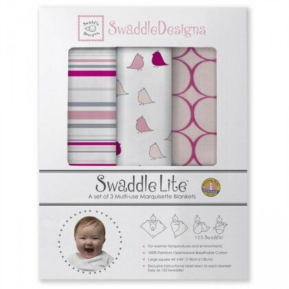 Набор пеленок SwaddleDesigns SwaddleLite Jewel Tone Very Berry