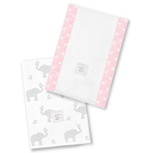 Полотенчики SwaddleDesign Baby Burpie Set PP Elephant & Chickies