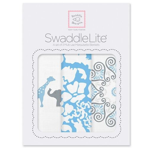 Набор пеленок SwaddleDesigns SwaddleLite PB Elephant/Chickies