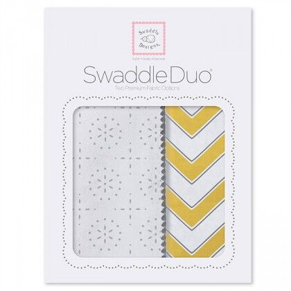 Набор пеленок SwaddleDesigns Swaddle Duo YW Classic Chevron