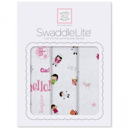 Наборы пеленок SwaddleDesigns SwaddleLite Taupe Gray Disney