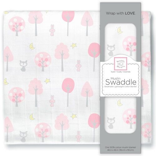 Пеленка муслиновая SwaddleDesigns Pink Thicket